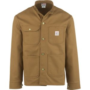 Pointer Brand Brown Duck Banded Collar Chore Coat - Men's