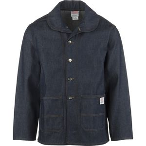 Pointer Brand Indigo Denim Shawl Collar Jacket - Men's
