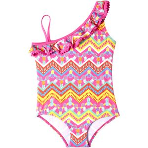Pink Platinum  Pineapple One-Piece Swimsuit - Girls'
