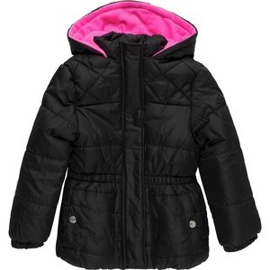 Pink Platinum  Solid Hooded Puffer - Toddler Girls'