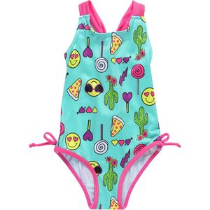 Pink Platinum One-Piece Swim Suit - Girls'