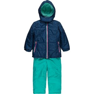 Pink Platinum Texture Print with Dots Better Snowsuit - Girls'