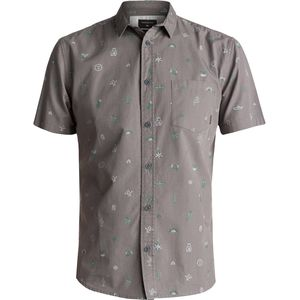 Quiksilver Baja Moment Mini Motif Short-Sleeve Shirt - Men's