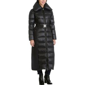 Rainforest 3/4 Length Down Jacket with Smocking Detail - Women's