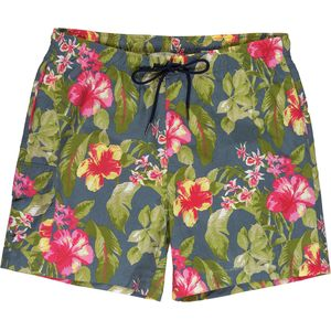 Rainforest Hibiscus Printed Swim Trunk - Men's