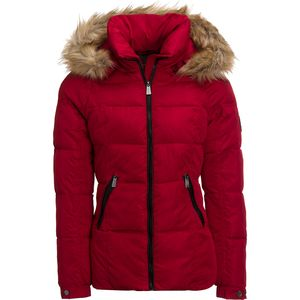 Rainforest Faux Fur Hooded Quilted Insulated Jacket - Women's