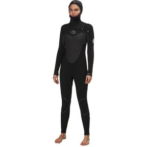 Rip Curl Flash Bomb Hooded 5/4 Chest-Zip Full Wetsuit - Women's
