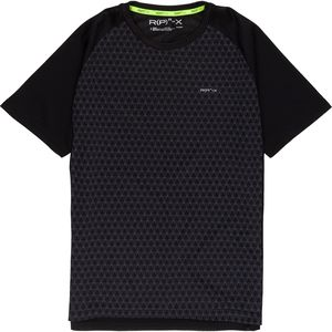 RPX Poly Geometric Printed with Mesh Back Detail Short-Sleeve Crewneck T-Shirt - Men's
