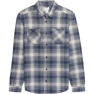 RVCA Neutral Plaid Long-Sleeve Flannel Shirt  - Men's