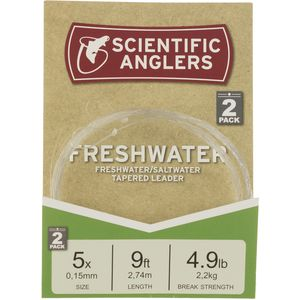 Scientific Anglers Freshwater Nylon Tapered Leader - 2-Pack