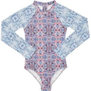 Seafolly  Boho Tile Long-Sleeve Surf Rashguard - Girls'