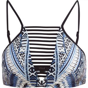 Seafolly Desert Tribe High Neck Tank Bikini Top - Women's