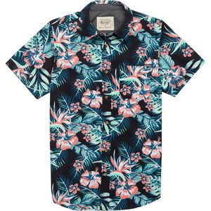 Straight Faded Hawaii Short-Sleeve Shirt - Men's