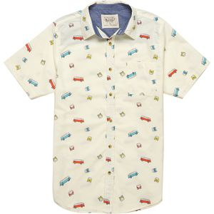 Straight Faded Bus Short-Sleeve Shirt - Men's