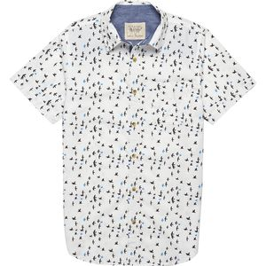 Straight Faded Bird Short-Sleeve Shirt - Men's