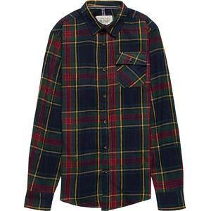 Straight Faded Window Plaid Flannel Shirt - Men's