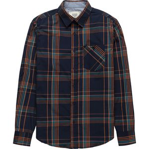 Straight Faded Plaid Long Sleeve Flannel Button Down - Men's