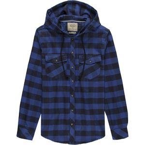 Straight Faded LS Hooded Flannel Button Down - Men's