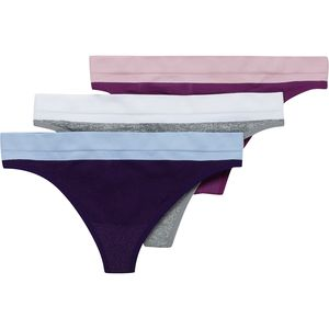 Stoic Seamless Performance Thong Underwear - 3-Pack - Women's