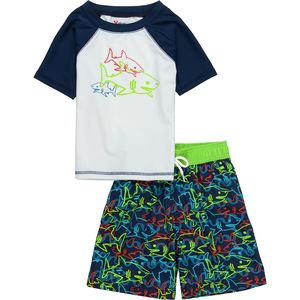 Stoic Shark Rashguard Swim Set - Little Boys