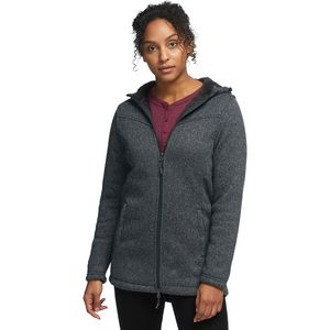 Stoic Sherpa Lined Hooded Sweater Fleece Jacket - Women's