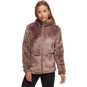 Stoic Hooded Zip-Up Fuzzy Fleece Jacket - Women's