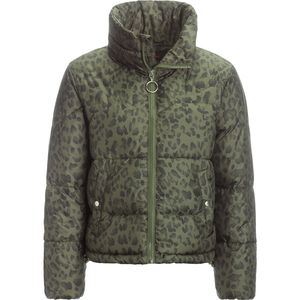 Stoic Printed Cropped Insulated Puffer Jacket - Women's