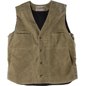 Stormy Kromer Mercantile Lined Waxed Button Vest - Men's