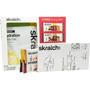 Skratch Labs Sport Hydration Drink Mix w/ 4 Free Energy Bars