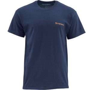 Simms Woodblock Trout Short-Sleeve T-Shirt - Men's