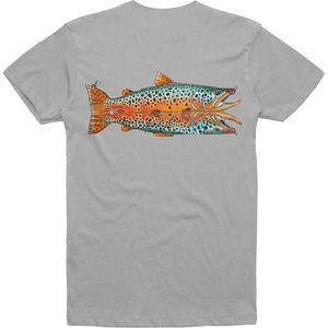 Simms Deyoung Waterfall Brown Trout T-Shirt - Men's