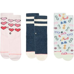 Stance XO Sock - 3 Pack - Toddler Girls'