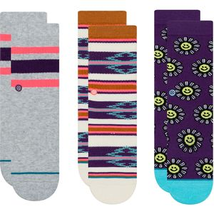 Stance Daisy Smile Sock - 3-Pack - Kids'