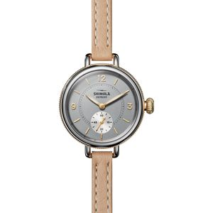 Shinola 34mm Birdy Sub Second Polished Stainless Steel Watch - Women's