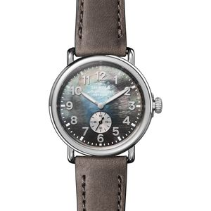 Shinola 41mm Runwell Sub Second Polished Stainless Steel Watch - Women's