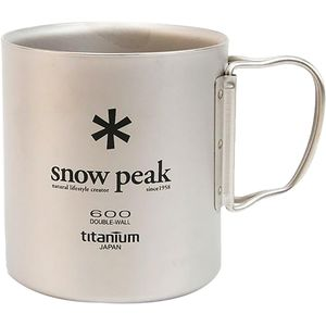 Snow Peak Titanium Double Wall Cup 600
