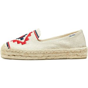 Soludos Embroidered Platform Smoking Shoe - Women's