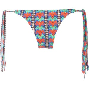 Sofia by Vix Kiev Long Tie Fringe Full Bikini Bottom - Women's