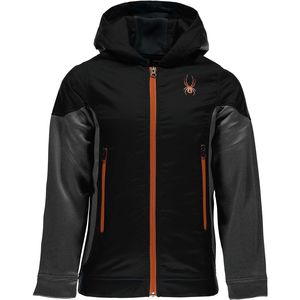Spyder Hybrid Hooded Fleece Jacket - Boys'