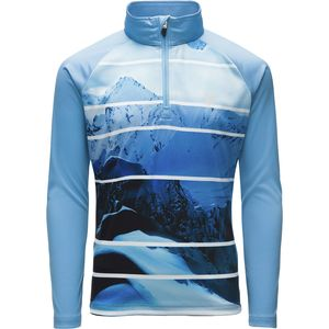 Spyder Limitless Powder Peak Stryke Zip T-Neck Top - Girls'