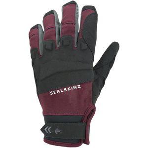 SEALSKINZ Unisex Waterproof All Weather Mtb Glove Black//Red M