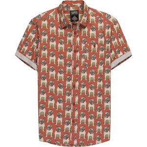 Super Massive Shop Pug Print Woven Short-Sleeve Shirt - Men's