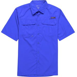 Swiss Alps Vented Panel Short-Sleeve Fishing Shirt - Men's