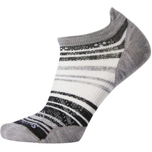 Smartwool PhD Run Ultra Light Striped Micro Sock - Women's