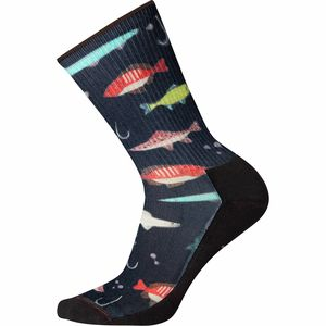 Smartwool Hike Light Fly And Lure Print Crew Sock