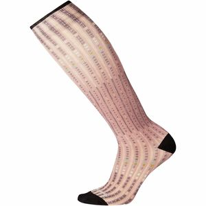Smartwool Compression Virtual Voyager Print Over The Calf Sock
