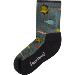 Smartwool Hike Light Fly And Lure Print Crew Sock - Kids'