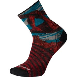Smartwool PhD Outdoor Light Arches Print Mid Crew Sock