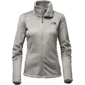 The North Face Osito 2 Fleece Women's Jacket (Metallic Silver/Blackberry Wine)