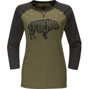 The North Face Explore More Buffalo Baseball T-Shirt - Women's